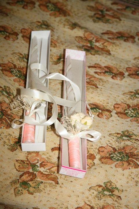 Свещи - декорацията е мое дело ;)