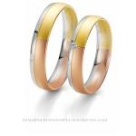 Сватбени халки от три цвята цлато