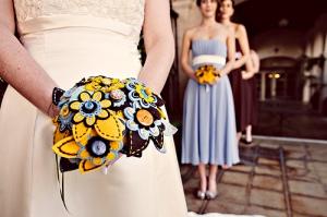 Сватбен букет с уникални цветя